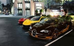 Picture London, McLaren, Bugatti, Ferrari, Veyron, Bugatti Veyron, Rembrandt, London, Grand Sport, LaFerrari, McLaren P1, Ferrari …