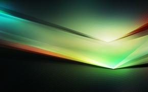 Picture green, black, spectrum, digital illustration