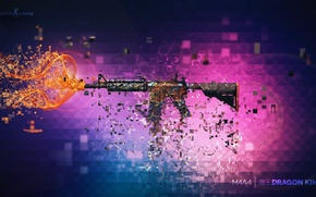 Wallpaper weapons, assault, background, rifle, m4a1 dragon king, Weapons, Skin, Workshop, cs go, Weapon, Steam, Gun, ...