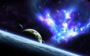 Picture space, stars, planet, art, galaxy, jkelly26