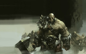 Picture weapons, the game, art, Orc, wow, Lin Wenjun