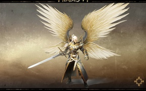 Picture wings, sword, the Archangel, Heroes of Might & Magic 6, Heroes of might and Magic …