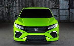 Picture green, jdm, tuning, front, face, type r, vtec, Honda Wallpaper, Honda 2015, Honda Civic Concept, …