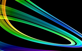 Picture line, rainbow, vector, gradient