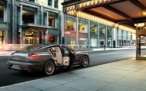 Picture the city, home, Porsche, Porsche, Panamera, showcase, 2015, Panamera 4S