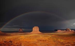 Picture rocks, rainbow, Below the rainbow