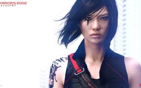 Wallpaper girl, tattoo, Electronic Arts, DICE, Faith, Faith, Mirrors Edge: Catalyst