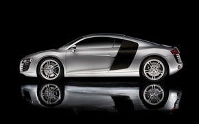 Wallpaper side, Audi r8, reflection