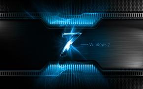 Wallpaper Microsoft Windows, Blue, Windows Seven, Windows 7, Seven