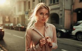 Picture The sun, Girl, Look, The wind, Blouse, Beautiful, Daria Screamer