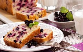 Picture food, milk, Cup, cake, cake, fruit, cake, dessert, food, cup, sweet, fruits, dessert, milk, blackcurrant, …