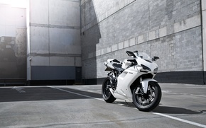 Picture white, strip, shadow, motorcycle, white, Blik, bike, ducati, Ducati, supersport, 1198