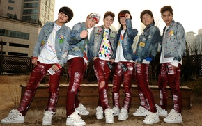 Picture jeans, group, sneakers, k-pop, U-Kiss