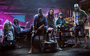 Picture Ubisoft, San Francisco, Game, Marcus Holloway, Watch Dogs 2, DedSec, Marcus Holloway, Sitara, Josh, Rench, …