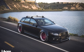 Picture Audi, audi, wheels, black, quattro, tuning, front, face, germany, low, stance