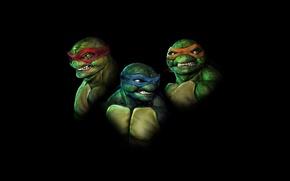 Picture Minimalism, Black, Raphael, Leonardo, Teenage Mutant Ninja Turtles, Michelangelo, Ninja Turtles