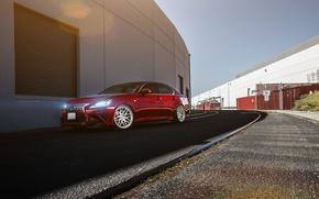 Picture Lexus, red, Lexus, frontside, GS350