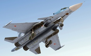 Wallpaper the sky, flight, su-34