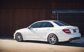 Picture white, Mercedes, white, Mercedes, benz, c250, c-class