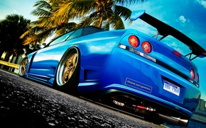 Wallpaper tuning, photoshop, nissan, skyline, r33