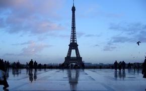 Wallpaper blue, Paris, tower