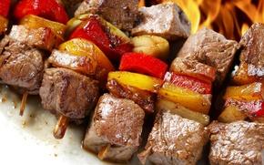 Picture food, vegetables, kebab.meat