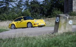 Picture Porsche, Yellow, 964