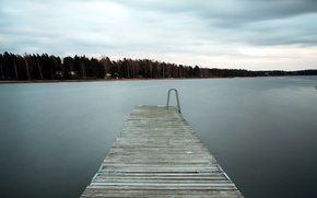 Picture landscape, bridge, nature, lake