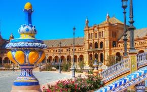 Picture Palace, the sky, Seville, Espana, Spain