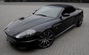 "Picture Aston Martin, black, DB9, black, Aston Martin, ДБ9, 21"""