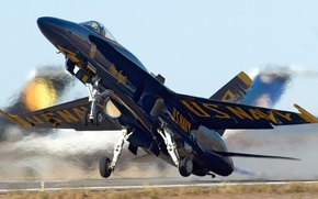 Picture the rise, F-18, the angle of attack, blue angels