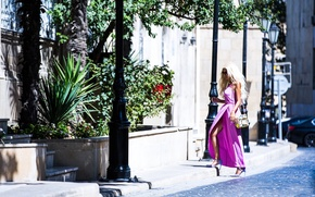 Wallpaper style, leg, face, the city, hair, girl, heels, dress