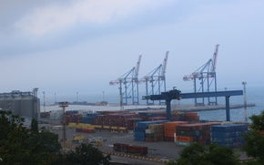 Picture Port, containers, cranes
