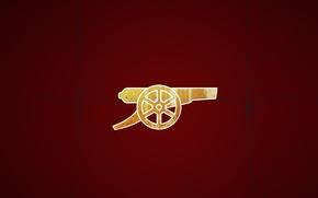 Picture background, logo, emblem, gun, Arsenal, Arsenal, Football Club, The Gunners, The gunners, Football club