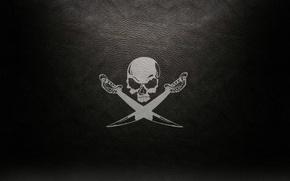 Picture background, Skull, swords