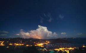 Picture the sky, night, lights, stars, sky, night, stars, Western Australia, Western Australia, Coral Bay, Coral …