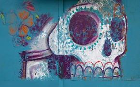 Wallpaper painting, skull, Halloween, figure, Mexico, Oaxaca