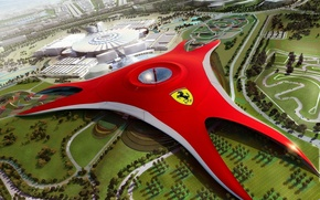 Picture the city, ferrari, layout, the project
