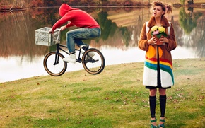 Picture cyclist, photoshoot, Lindsey Wixson, CR Fashion Book