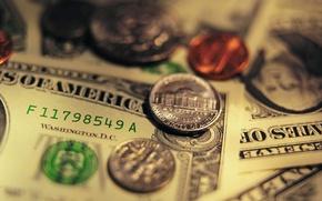Wallpaper dollars, money, coins