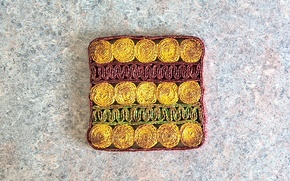 Picture green, wallpaper, red, yellow, texture, square, background, pattern, kitchen, mat, pan