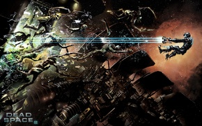 Wallpaper the gap, the game, Dead Space 2, in the air