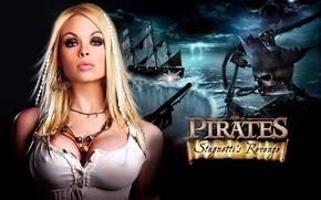 Picture plate, piraty, krasotka, vzgljad, was the