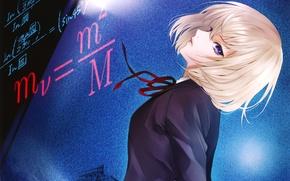 Wallpaper look, girl, formula, school uniform, Kiyohara Hiro