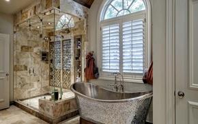 Wallpaper design, style, shower, bath, bathroom, decor