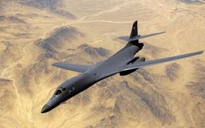 Picture the plane, desert, desert, military, military, airplane, B1-B Lancer