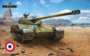 Picture World of Tanks, Bat Chatillon 25 t, WoT, art, France, World of tanks, tank