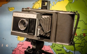 Picture macro, background, camera, Polaroid
