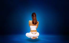 Picture white, blue, meditation