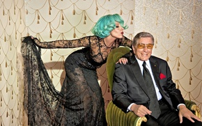 Picture jazz, jazz, Lady Gaga, Lady Gaga, music music, Cheek to Cheek, Tony Bennett, Tony Bennett
